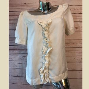Lilly Pulitzer Silk Blouse Puffed Short Sleeve 4